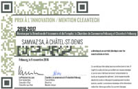 Prix innovation Cleantech 2016-2017